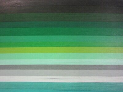 QUILLING PAPER 110gsm 1.5mm 500 Strips - 14 MIXED GREEN COLOURS