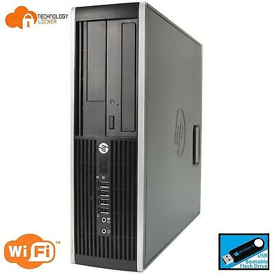 HP Compaq 6300 SFF Desktop PC Intel i5-3470 @3.20GHz 8GB 120GB SSD  Wins 10