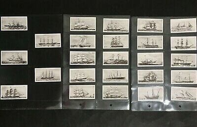 CIGARETTE CARD SET OF 25 OLD SHIPS DOMINION TOBACCO CO ISSUE 1930's 1ST SERIES