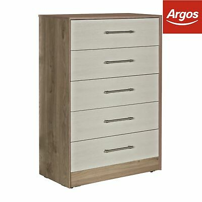 Victoria 5 Drawer Chest - Grey Cashmere