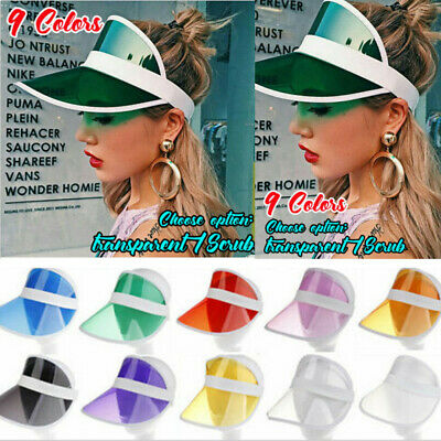 Summer PVC Hat Sun Visor Party Casual Hat Clear Plastic Adult Sunscreen Cap