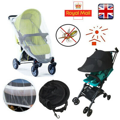 Baby Universal Pushchair Stroller  Sun Shade Cover Mosquito Net Buggy Cover UK