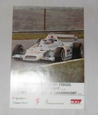 Flyer 1979 F2 Grand Prix Zandvoort European Championship Cheever Rothengatter