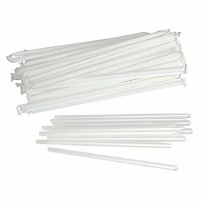 SafePro STRC, 7.75-Inch Clear Individually Wrapped Jambo Stirrers 500PCS
