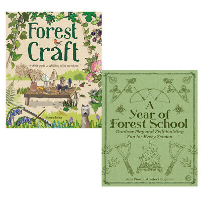Forest Craft,A Year of Forest School 2 Books Collections Set Paperback NEW
