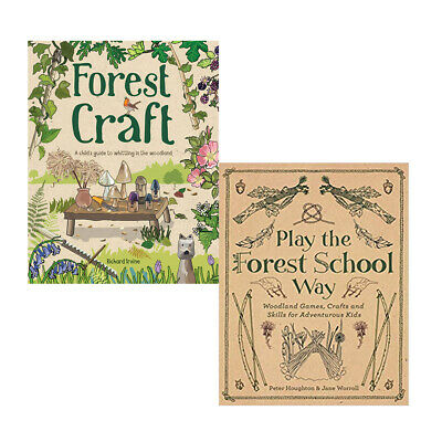 Forest Craft,Play the Forest School Way 2 Books Collections Set Paperback NEW