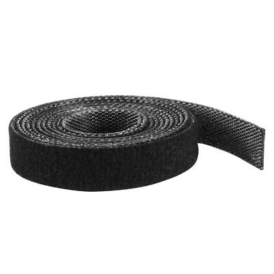 10M Double Sided Hook and Loop Tape Cable Ties Reusable Straps DIY Black BI1220
