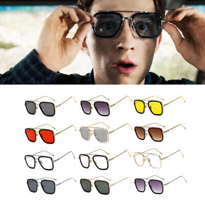 EDITH Tony Stark Sunglasses Avengers Iron Man Metal Robert Downey Summer Square