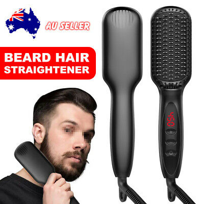 Beard Hair Straightener Brush Ceramics Comb Electric Curling Curler Styling Show