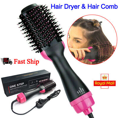 Pro 3 in 1 Collection Salon One-Step Hair Dryer and Volumizer Comb Styler