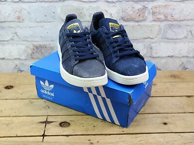6059103a1336 Mens Adidas Campus Navy Suede Retro Pumps Gym Sneaker Trainers Uk Size 8  Faded