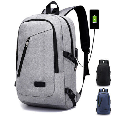 Anti-Theft Backpack Travel School Laptop Lock Rucksack Bag With USB Charger Port