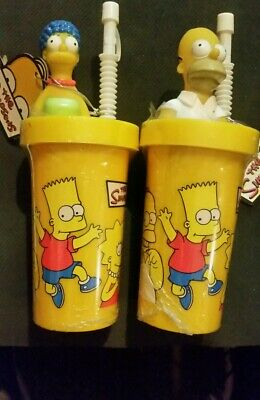 The Simpsons milkshake container with straw Homer & Marge
