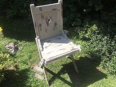 Antique Wooden Gothic Chapel Chair