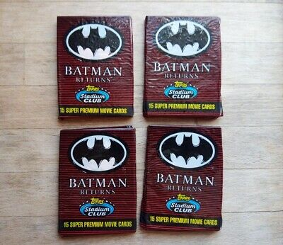 4 x sealed packets Batman Returns Super Premium Movie Cards (15 cards in each)