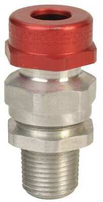 APPLETON ELECTRIC TMCX050SNB Cable Connector,1/2 in.,Silver and Red