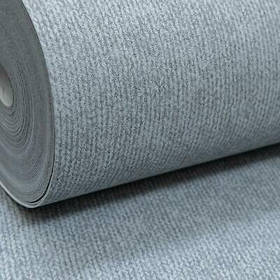Rasch Mid Grey Cloth Linen Effect Textured Thick Heavy Paste the Wall Wallpaper