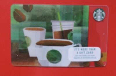 Starbucks Usa Beans To Coffee 2017 Gift Card. No Value.collectors Item
