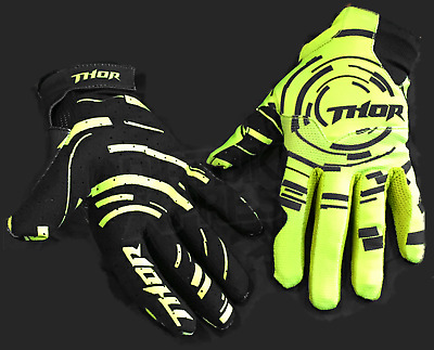 Thor Racing Void Circulus Green Black Motocross Offroad Race Gloves Adult Small