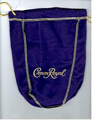 "Crown Royal Purple Bag 9"" With Draw String -  New"