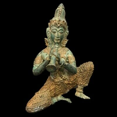 VERY RARE GANDHARA ANCIENT BRONZE & GOLD GILT STATUE 200-400 AD (Large Size) (1)