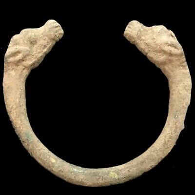 Rare Roman Ancient Bronze Animal Arm Torc 200-400 Ad