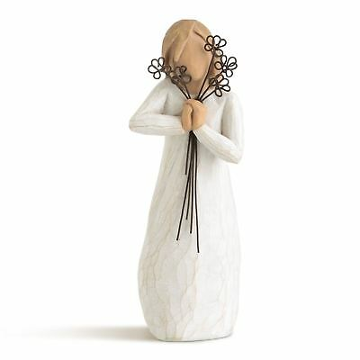 Willow Tree Friendship Figurine Resin Flowers Thank You Keepsake Ornament Gift
