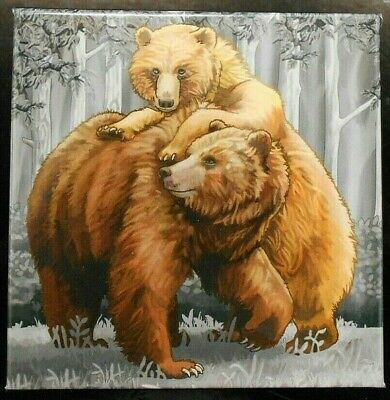 2015 Canada Grizzly Bear ~ Togetherness ~ Free Shipping