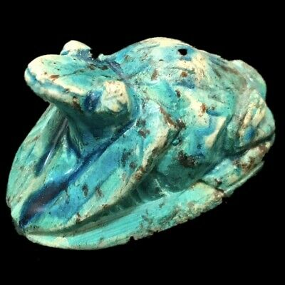 Rare Beautiful Ancient Egyptian Frog Statue, 300 Bc, Large !!!!!