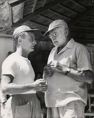 """ERNEST HEMINGWAY-FRED ZINNEMAN. The making of """"The old man and the sea"""", 1959."""