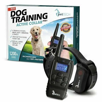 PetTech Remote Controlled Dog Training Collar, Rechargeable and Waterproof, All