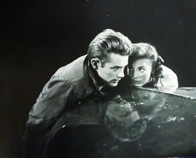"""DENNIS STOCK. JAMES DEAN & NATALIE WOOD on Set of """"Rebel Without a Cause"""" 1954."""