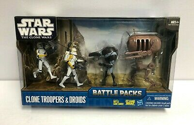 Clone Troopers & Droids BATTLE PACKS 2010 Star Wars Clone Wars ~ factory sealed