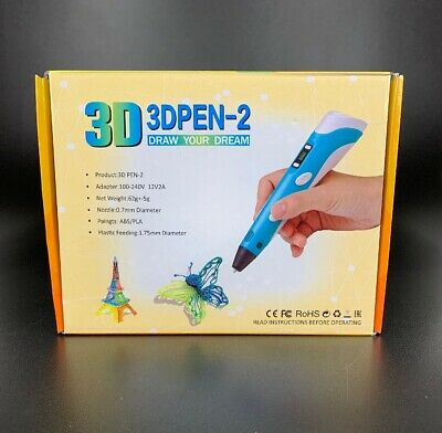 New 3D Printing Pen 2nd Crafting Doodle Drawing Arts Printer Modeling PLA/ABS