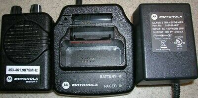 Motorola Minitor V (5) Two Channel UHF NON  Stored Voice SV Pager 453-461.98 MHz