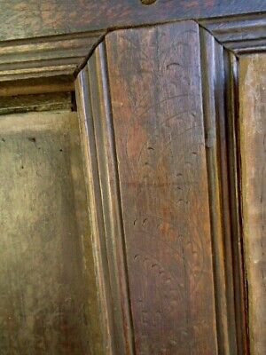 Two 17Th   Century Oak Plain Coffer Side  Panels And Rails