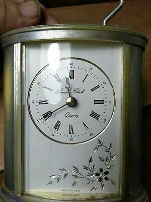 London Clock Distressed Worn Finish Carriage Clock with Handle 4.5 Inches X138h