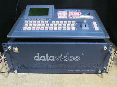 Datavideo SE-900 8-Channel Digital Video Switcher & Control Panel Tested/Working