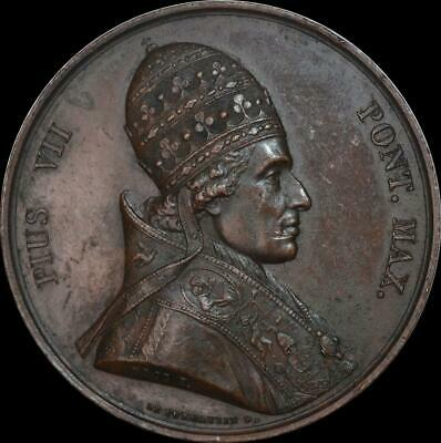 Italy, Papal - Pius VII 1820 St Sulpice Seminary medal by Droz