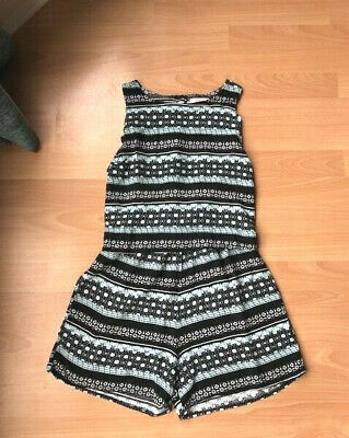 Gorgeous Girls M&Co Kylie Black & Mint Green Summer Playsuit - Age 13