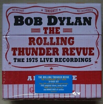 BOB DYLAN – The Rolling Thunder Revue: The 1975 Live Recordings . 14 CD Box Set