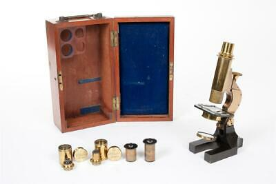 """Vintage c1900 ~  """"Henry Crouch""""  """"1660"""" ~  Brass Microscope."""