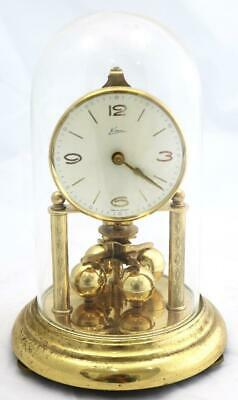 German Schatz Aniversary Mantle Clock And Glass Dome Spares Or Repair