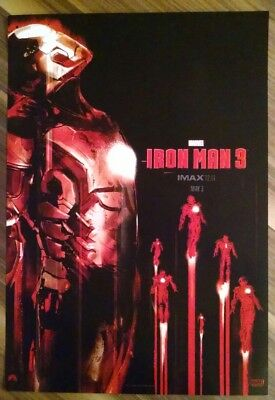 "Marvel Studios IRON MAN 3 Exclusive IMAX 13.5"" x 19.5"" Mini Poster MARVEL - MCU"