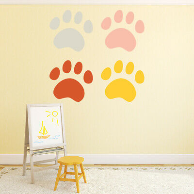 Colourful Paw Prints Dogs Cats Wall Decal Sticker Set WS-46651