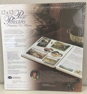 Creative Memories 12x12 PAGE PROTECTORS Original Size Old Style 16 sheets 1999