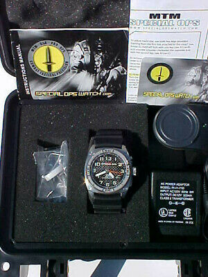 """Rare Mtm Special Ops Watch """"Black Hawk"""" Mint In Box With Instructions"""
