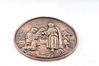Old Picture Relief Art Mural Decoration Old Vintage Wall Plate
