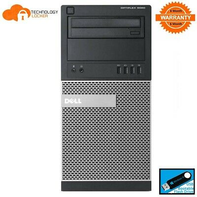 Dell Optiplex 9020 Tower PC Intel i5-4670 @3.4GHz 8GB RAM 500GB HDD Win 10