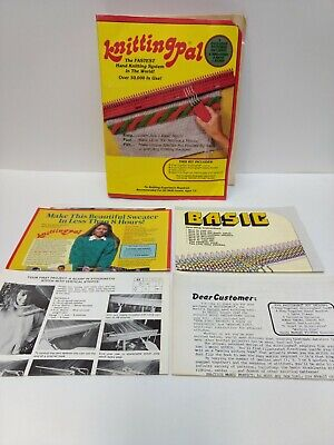 Vintage Knitting Pal Fastest Hand Knitting System Directions Papers Included NEW